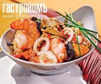 Рецепт Морепродукты по-вьетнамски с чесночным соусом