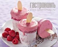 Рецепт Дуэт из малинового мороженого и сорбета