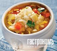 Рецепт Минестроне с рисом и чипсами из пармезана