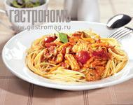 Рецепт Спагетти с лососем и томатным соусом