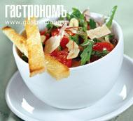 Рецепт Салат из рукколы с томатами и пармезаном