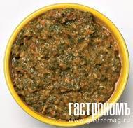Рецепт Ароматная зеленая адыгейская аджика