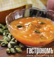 Рецепт Конфитюр из персиков с фисташками