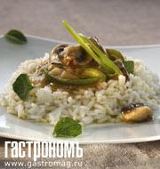 Рецепт Телятина с грибами и сладким перцем