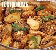 Рецепт Баранина в сырной корочке с картофелем