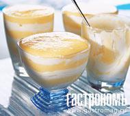 Рецепт Творожный крем с персиками