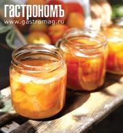 Рецепт Компот из тушеных груш и персиков