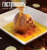 Рецепт Шоколадное мороженое с шафрановым соусом