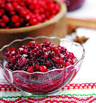 Рецепт Брусничное варенье с пряностями