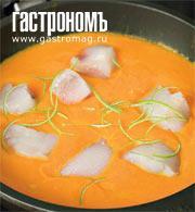 Рецепт Морской черт, тушенный в тыквенном пюре