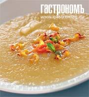 Рецепт Суп из дыни с имбирными чипсами