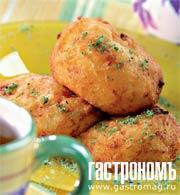 Рецепт Сырные пончики из манной крупы