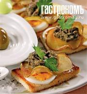 Рецепт Тапас с яблоками и тапенадом
