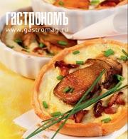 Рецепт Мини-киши с лесными грибами