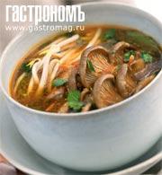 Рецепт Суп-лапша с вешенками