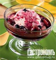 Рецепт Десерт из ягод со сметаной