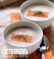 Рецепт Быстрый суп-пюре из копченой форели