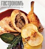 Рецепт Окорочка, фаршированные индейкой с орехами