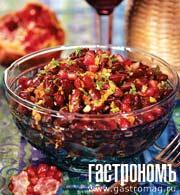 Рецепт Фасоль с орехами и гранатом