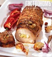 Рецепт Свинина, фаршированная грушами и киви