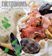 Рецепт Кальмары и мидии с беконом и кускусом