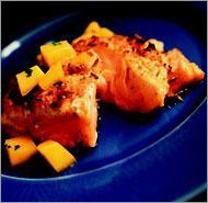 Рецепт Запеченный лосось в сливочном соусе