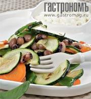 Рецепт Теплый салат из цукини и бобов