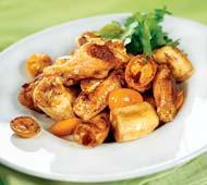 Рецепт Острые куриные крылышки с фруктами