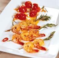 Рецепт Креветки, жаренные на ветках розмарина