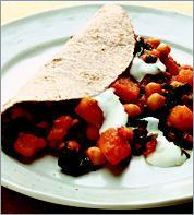 Рецепт Пряные овощи в лепешке