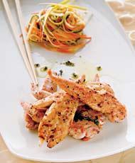 Рецепт Куриное филе-миньон со спагетти из овощей от Натальи Скворцовой