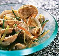 Рецепт Вонголе с овощным жюльеном