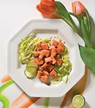 Рецепт Легкое севиче из лосося с пореем