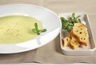 Рецепт Суп из авокадо с мятой и мятными хлебцами