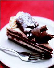 Рецепт Шоколадный бисквит с кремом