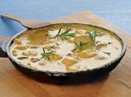 Рецепт Творожные ньокки с соусом из белых грибов