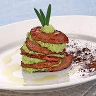 Рецепт Башенка из говядины с творожным кремом и ароматном кофе