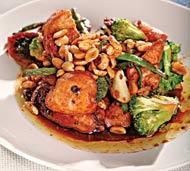 Рецепт Острая курица с овощами и арахисом