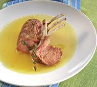Рецепт Каре барашка с соусом из ананаса