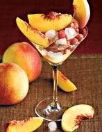 Рецепт Десерт из персиков и земляники