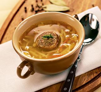 Рецепт Суп-лапша с фаршированными куриными шейками