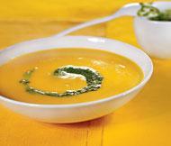 Рецепт Морковный суп с песто