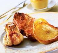 Рецепт Свинина по-валлийски с чесночным фланом