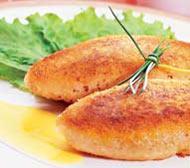 Рецепт Котлеты из двух сортов рыбы со сливочным соусом