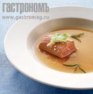 Рецепт Молочная телятина в крепком бульоне с травами