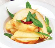 Рецепт Салат из острых груш и мяты