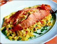 Рецепт Тальятелле с копченым лососем
