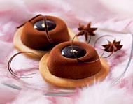 Шоколадно-чайное пирожное