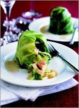 Голубцы из савойской капусты с беконом