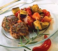 Рецепт Котлеты из баранины с овощным гарниром